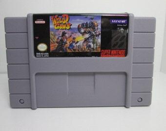 SNES Wild Guns reproduction cartridge Super Nintendo repro game.