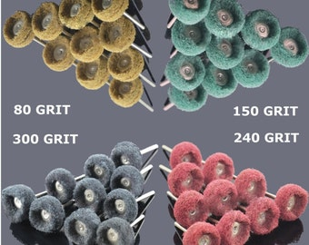 "200 PC 1"" (25mm) Abrasive Wheel Buffing Polishing Wheels fits DREMEL Rotary Tools"