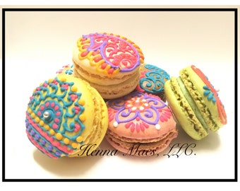 Henna Decorated French Macarons