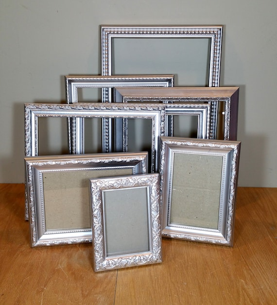 silver picture frame set 8 ornate frames silver wedding frame
