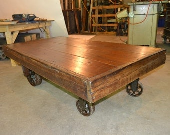 Old factory cart table