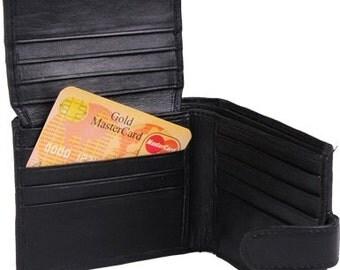 Wallet, Tri-Fold Wallet, Mens Wallet, Black Wallet, Black Mens Wallet, Leather Wallet, credit card wallet. Slim wallet. Groomsmen gift