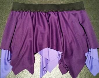 Purple/Lilac Layered Skirt (Pixie, Festival, Fairy)