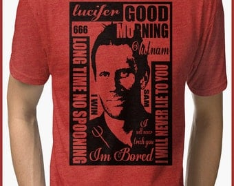 Supernatural  Lucifer Tri-blend T-Shirt
