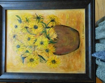 BLACK-EYED SUSAN Fantasy (Framed Oil Painting)