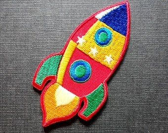 Rocket Spacecraft Spaceship Iron On Patch