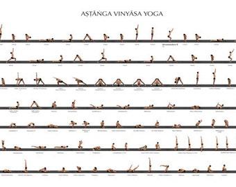 ashtanga YOGA CHART POSTER Rare Hot New 24x36
