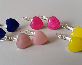Heart shaped earrings