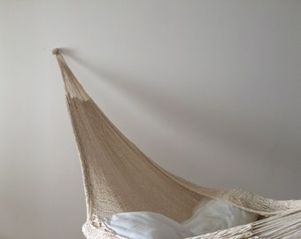 Hammock 2 people cotton handmade from Mexico nature