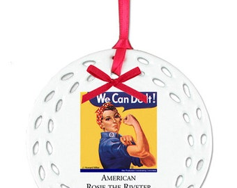 American Rosie the Riveter Association Christmas Ornament