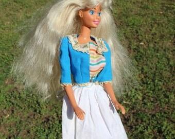Holland-themed Vintage Dutch-Style Barbie 3-peice clothing ~ Original Vintage Barbie Dress!