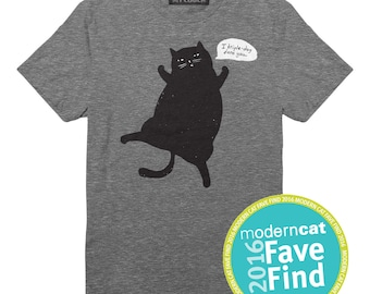 I Triple-dog Dare You Cat T-Shirt, Unisex T-Shirt, Gray Heather Cat T-Shirt