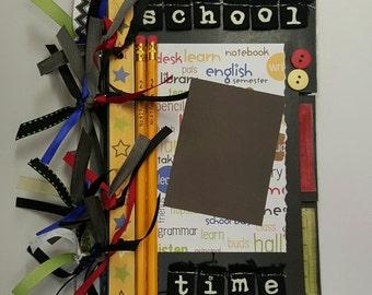 Handmade Mini Blackboard Scrapbook Album - School Theme