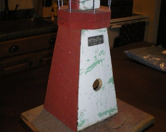 KINCARDINE Lighthouse PRIMITIVE BIRDHOUSE Ontario Canada
