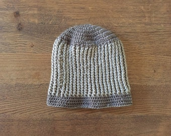 Two Tone Gray Slouch Beanie