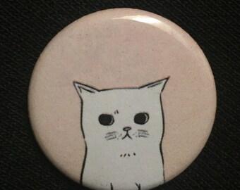 Awkward Cat Button/Pin