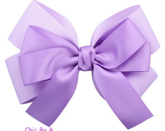 Purple,Light Blue,White,Pink,Yellow,Satin Hair Bows, Large Hair Bows for Girls, Big Hair Bow, Large Hair Bow, Special occasion