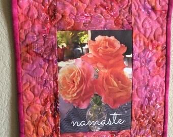 Art Quilt-Namaste 2
