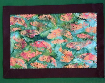 Set of four Salmon Placemats