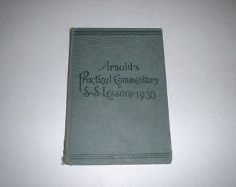 1930 Arnold's Practical Sunday School Lesson:Matthew,Old/New Testament Men & Women,Bible