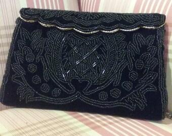 Beaded Velvet Bag