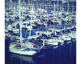 Harbor Island, San Diego Bay, California, Nautical, Sailboats, Art Photography