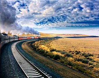 Steam Engine 4449 Under Way