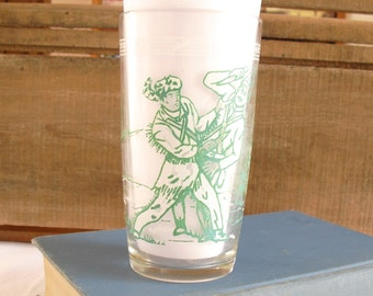 Vintage Davy Crockett Jam Jelly Glass, Famous Frontiersman, In a Jam at the Alamo, Tennessee Statesman, American Folk Hero, Alamo Hero