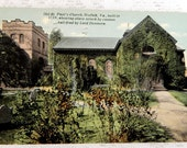 Postcard Old St Paul's Church Norfolk Va. circa 1911