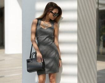 SALE! Grey Sweat Heart Neckline Dress