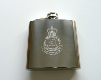 RMAS Sandhurst stainless steel Hip Flask