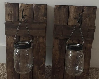 Rustic Candle Sconces (set of 2)