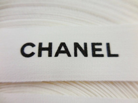 5x meters Authentic Chanel fabric ribbon width 15mm