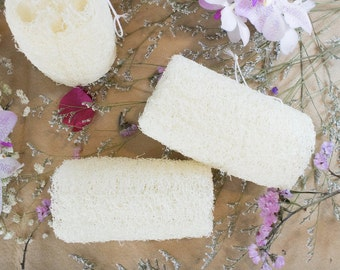 "3 Natural Loofa Exfoliating Bath Sponge 5 "" , Luffa Back Scrubber, Luffa Body Washer, Natural Loofah Luffa  Body Scrub Bath Shower Sponge"