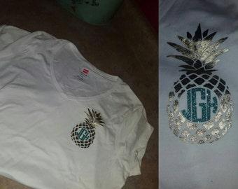 Pineapple Inital shirt!!