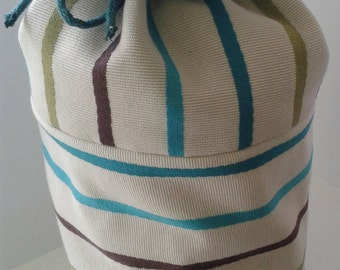 Cylinder Drawstring Cotton Striped Door Stop