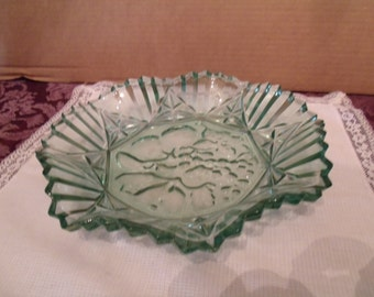 Green Glass Bowl for anything you like it to be