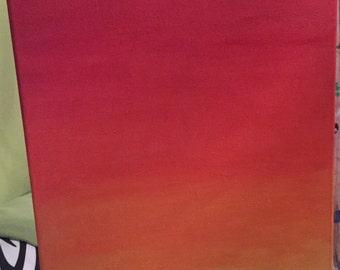 Ombré style canvas