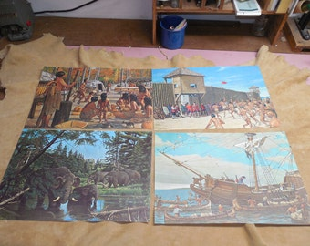 A history of Michigan in Paintings Set One
