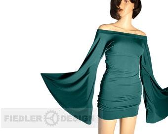 "Dress ""Java"", bat dress, strapless, Gothic, larp, fantasy, mini dress,"