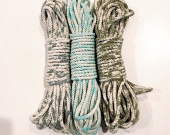 Hand dyed cotton macrame rope