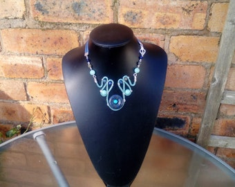 Handcrafted bib style Necklace