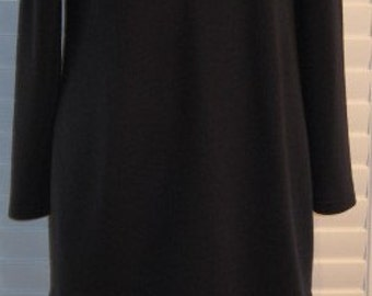 Louis Feraud Dress Vintage Navy Wool & Silk