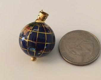 Lapis & 14k Globe Pendant