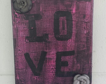 Hand Painted Love Painting