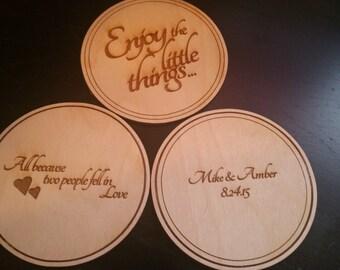 Custom Circular Wedding Coaster