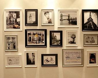 Photo Frame Set, Set of 15 Vintage Photo frame Collection, Creative wall Decoration (RD15 Modern)