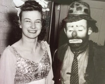 Emmett Kelly famous Weary Willie clown circus performer signed photograph picture