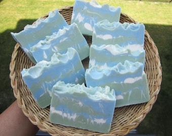 Eucalyptus & Peppermint Soap - All Natural Soap, Cold Process Soap, Vegan Soap, Handmade Soap