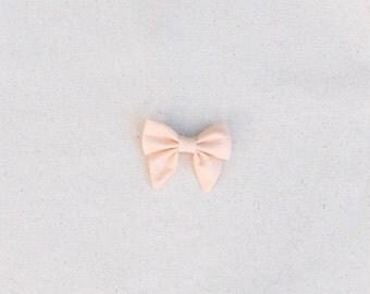 Peach Isla Sailor Bow